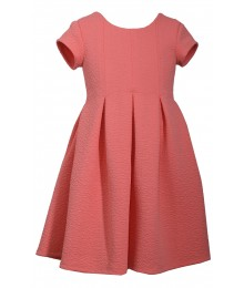 Bonnie Jean Coral Pleated Dress  Little Girl
